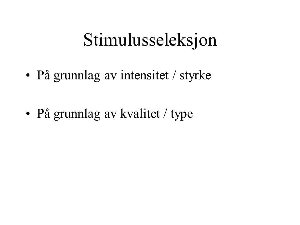 Stimulusseleksjon På grunnlag av intensitet / styrke