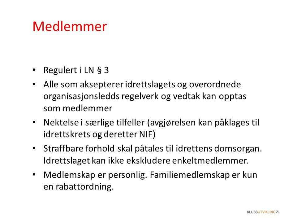 Medlemmer Regulert i LN § 3