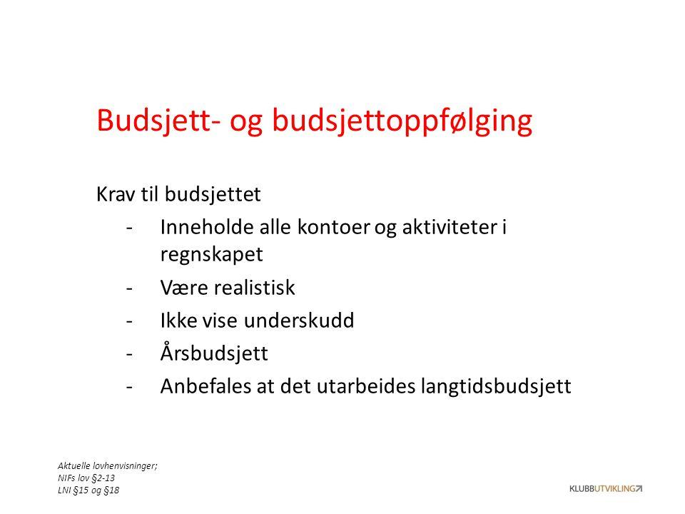 Budsjett- og budsjettoppfølging