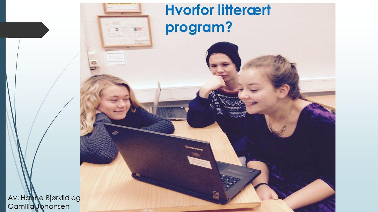 Hvorfor litterært program