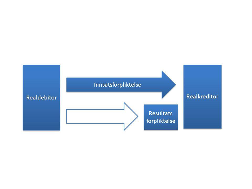 Realdebitor Realkreditor Innsatsforpliktelse Resultats forpliktelse