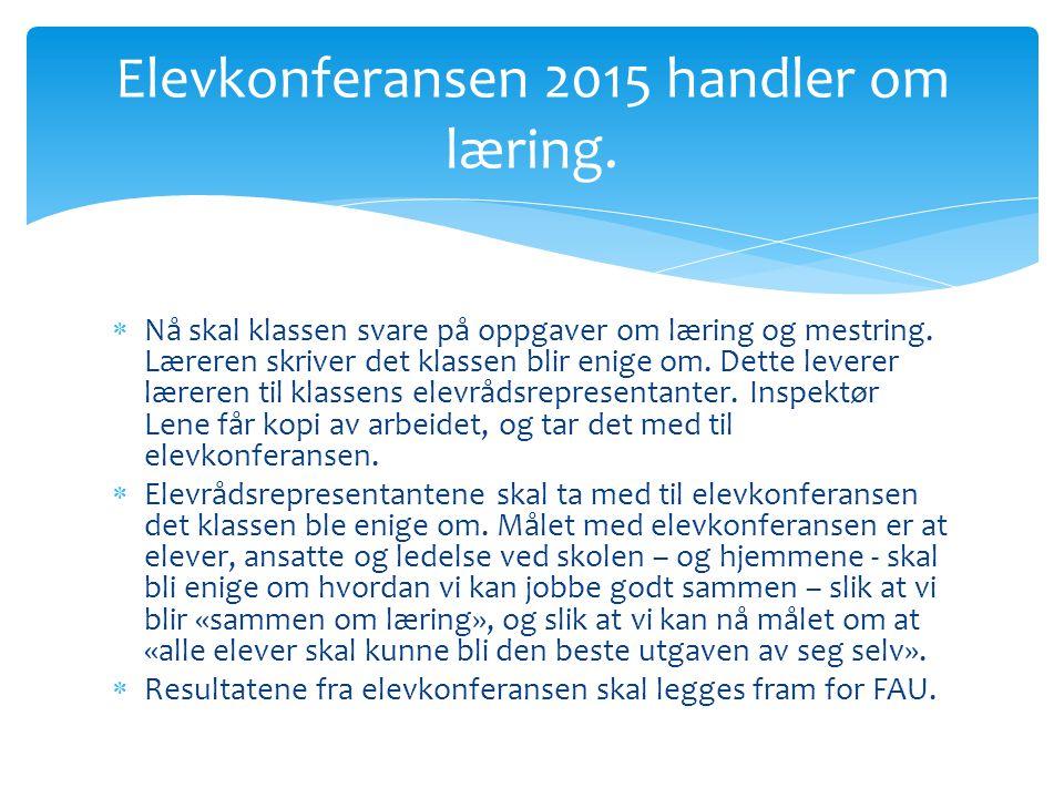 Elevkonferansen 2015 handler om læring.