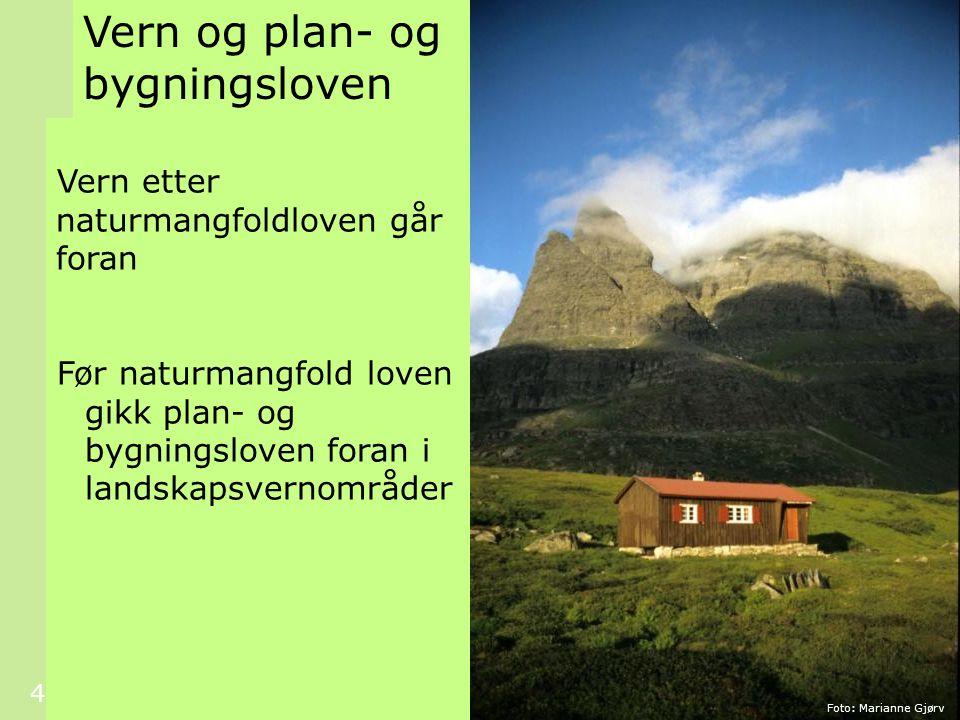 Vern og plan- og bygningsloven