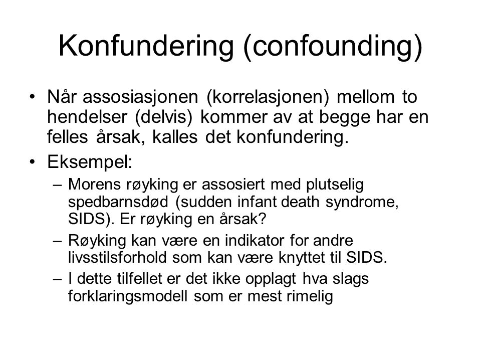 Konfundering (confounding)