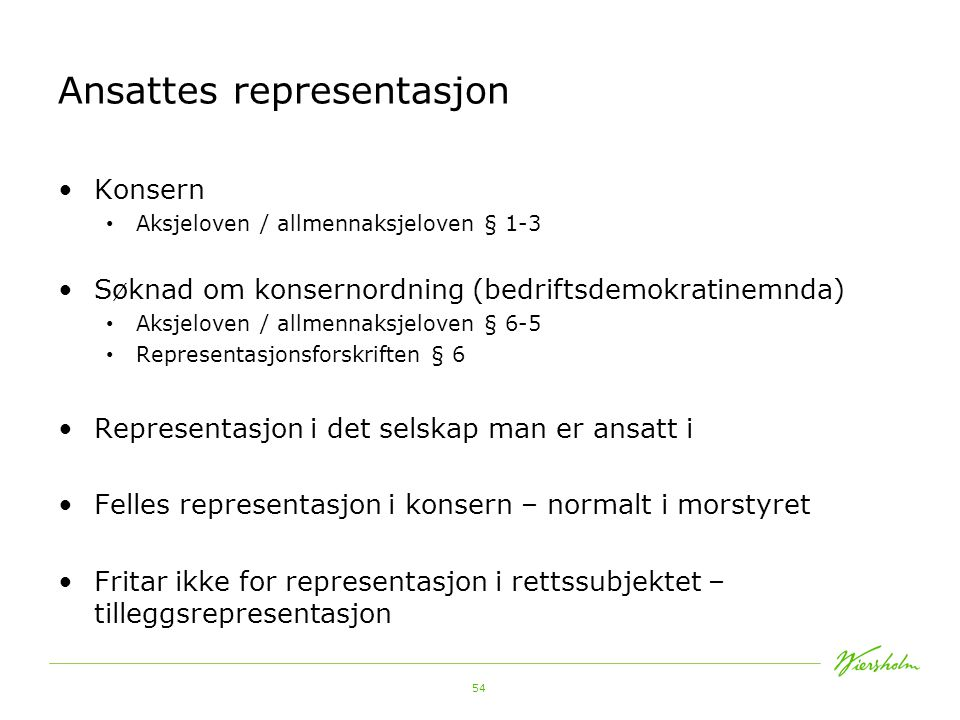 Ansattes representasjon