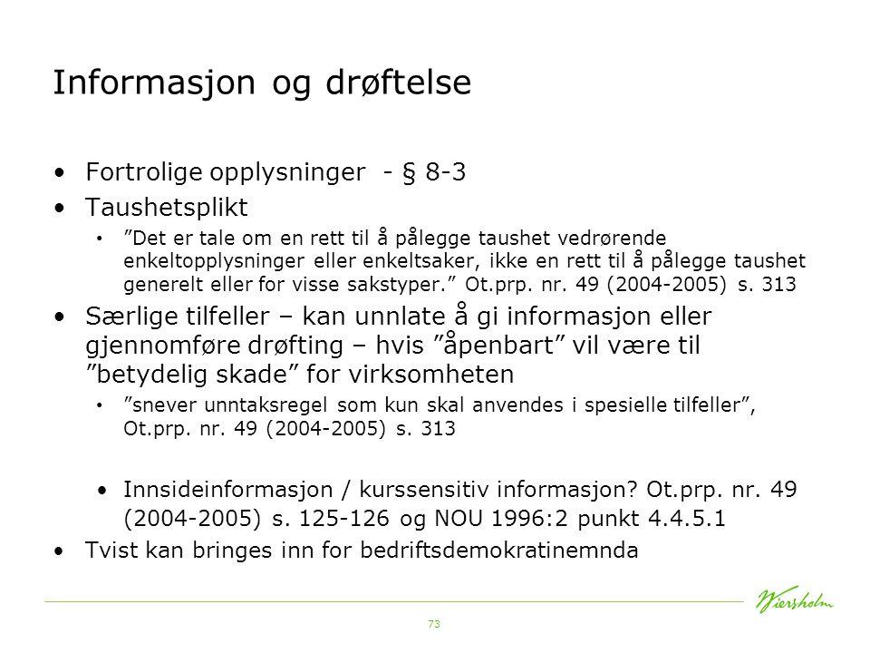 Informasjon og drøftelse