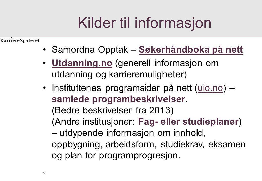 Kilder til informasjon
