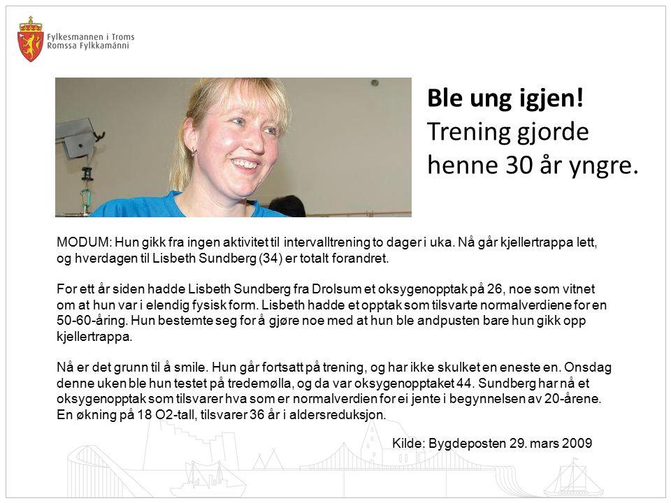 Trening gjorde henne 30 år yngre.