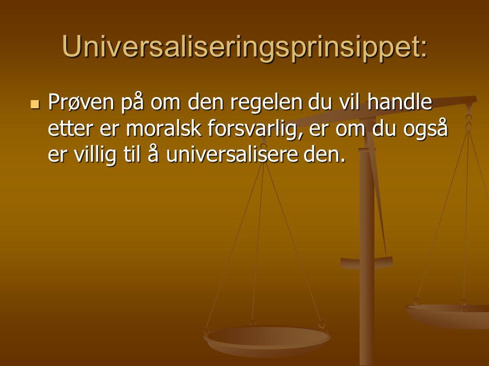 Universaliseringsprinsippet: