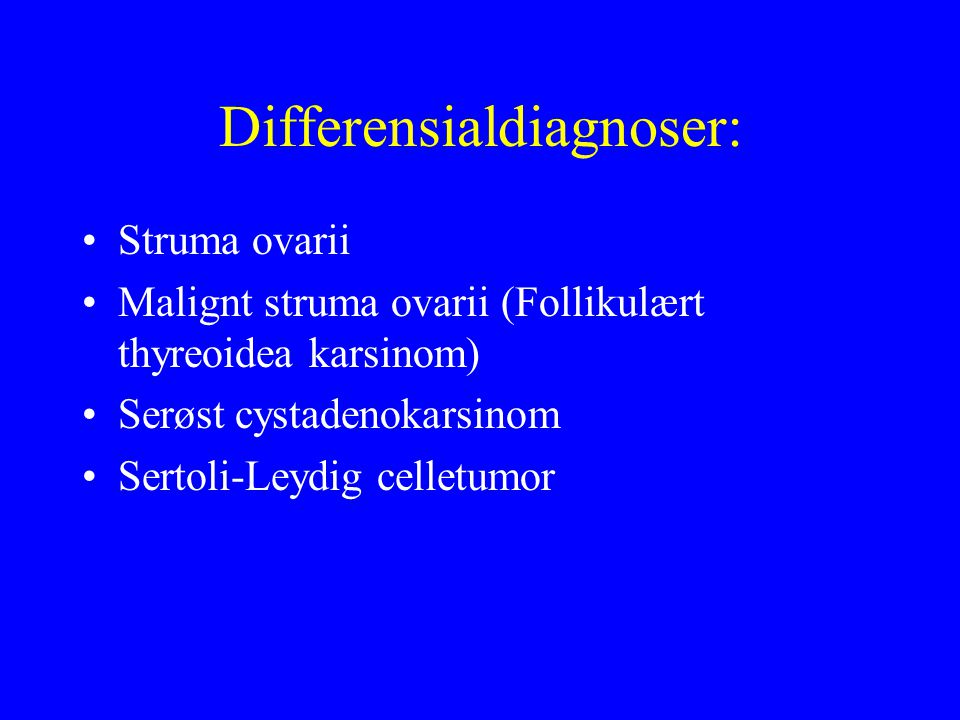 Differensialdiagnoser: