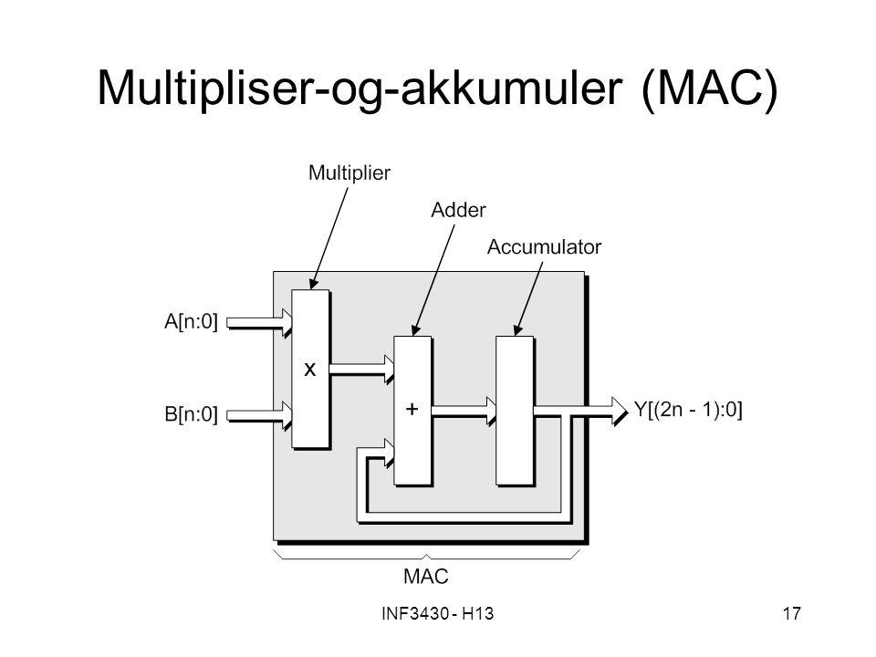 Multipliser-og-akkumuler (MAC)