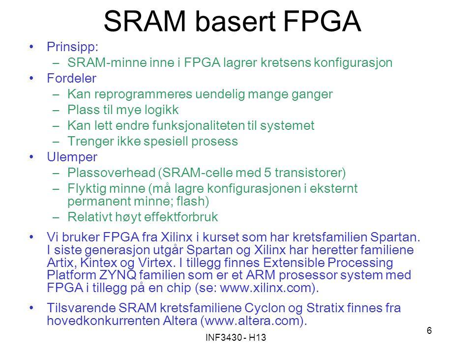 SRAM basert FPGA Prinsipp: