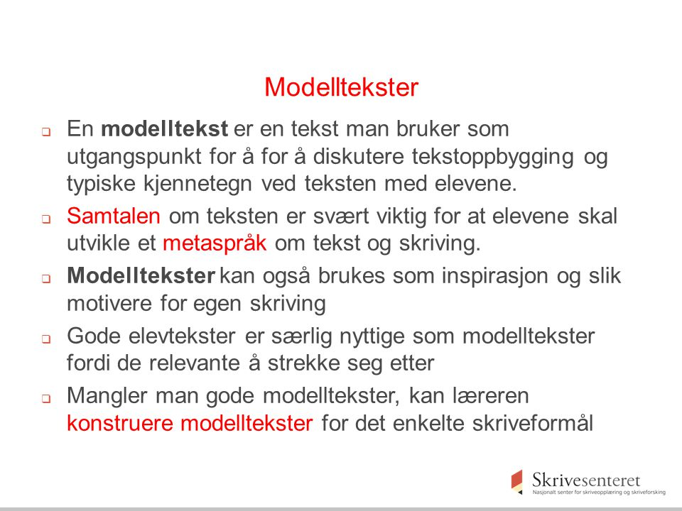 Modelltekster