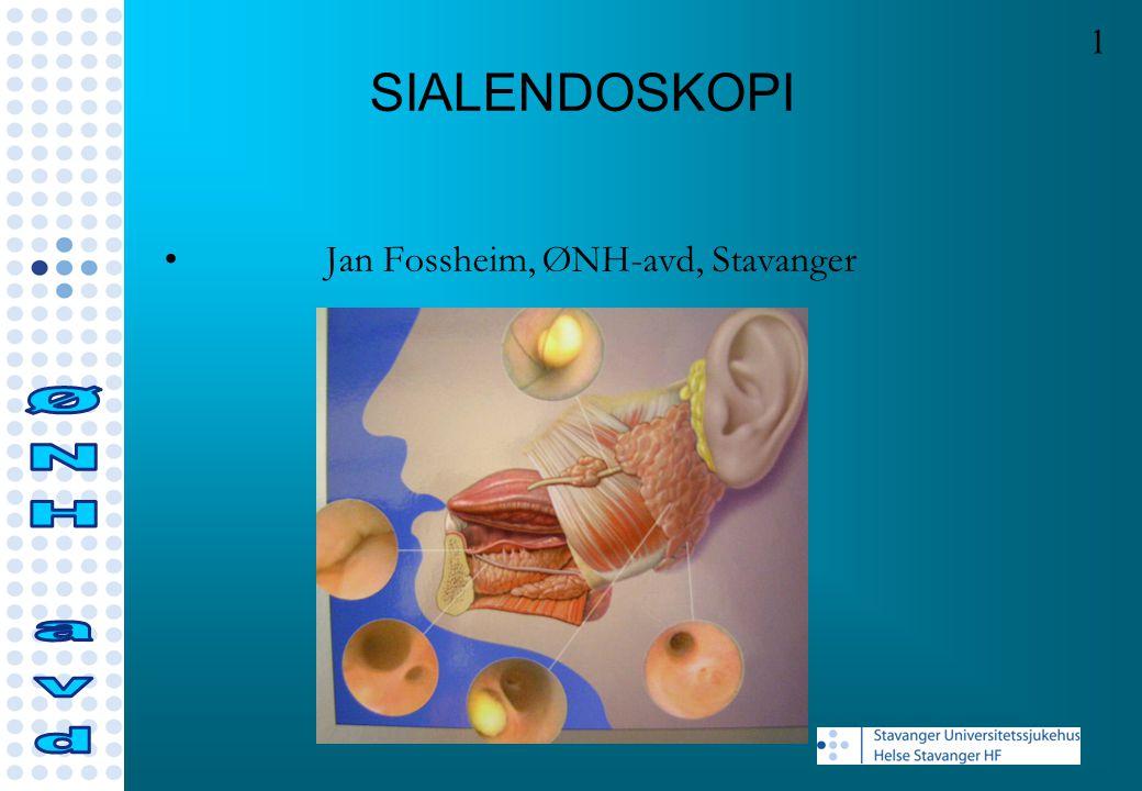 SIALENDOSKOPI ØNH avd Jan Fossheim, ØNH-avd, Stavanger 1