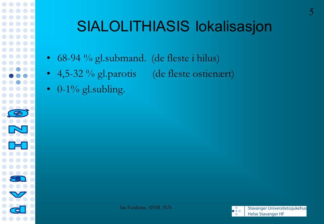 SIALOLITHIASIS lokalisasjon