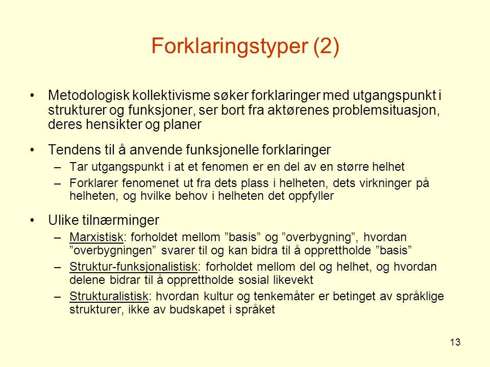 Forklaringstyper (2)