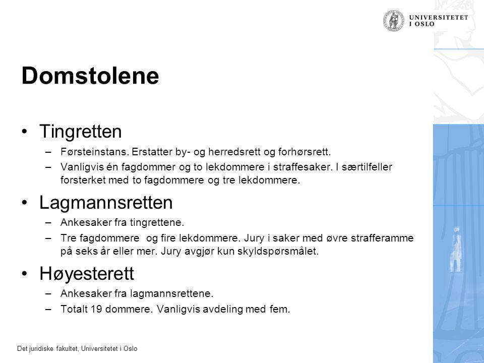 Domstolene Tingretten Lagmannsretten Høyesterett
