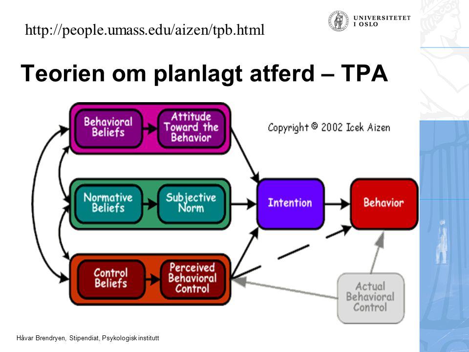 Teorien om planlagt atferd – TPA