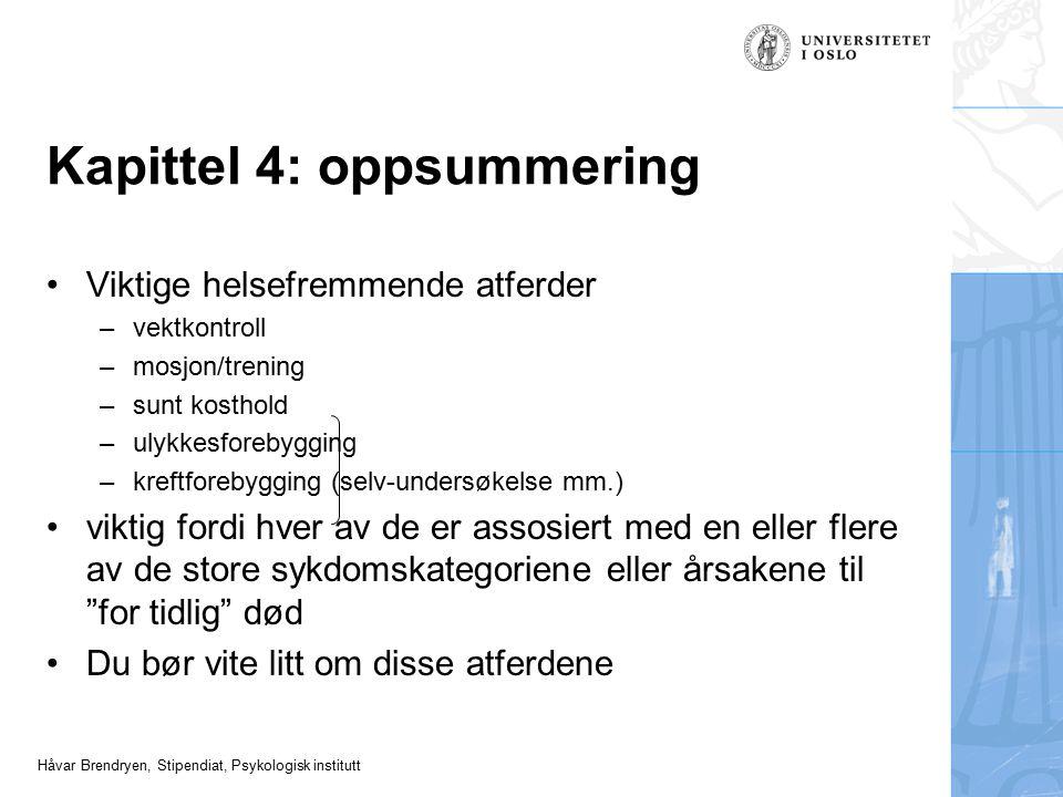 Kapittel 4: oppsummering