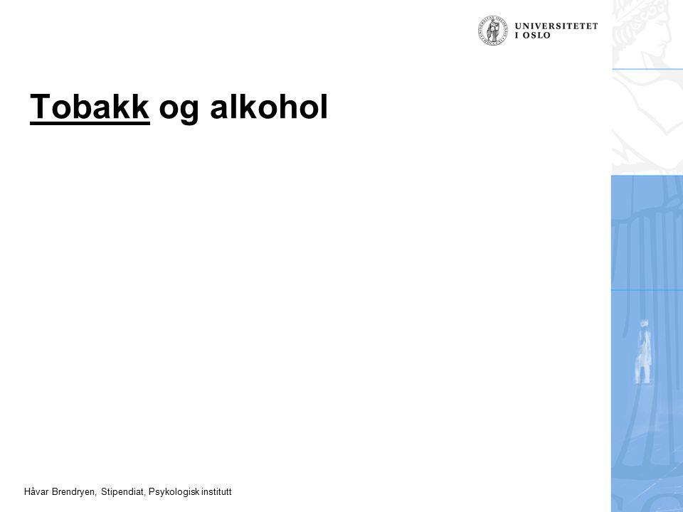 Tobakk og alkohol