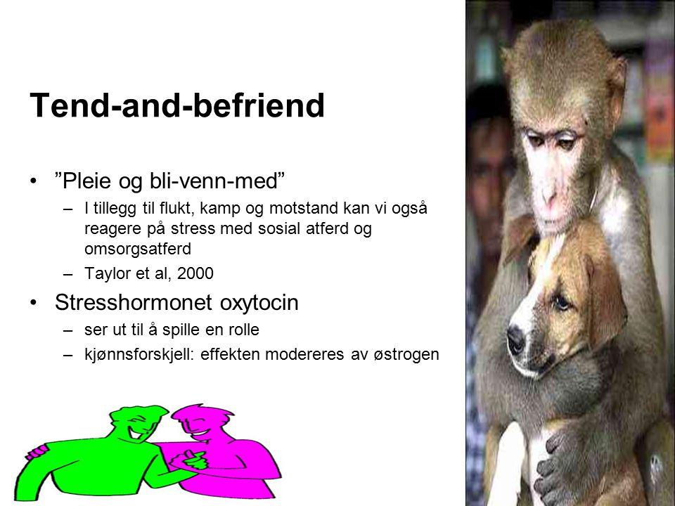 Tend-and-befriend Pleie og bli-venn-med Stresshormonet oxytocin