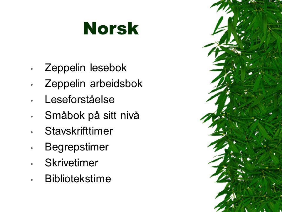 Norsk Zeppelin lesebok Zeppelin arbeidsbok Leseforståelse