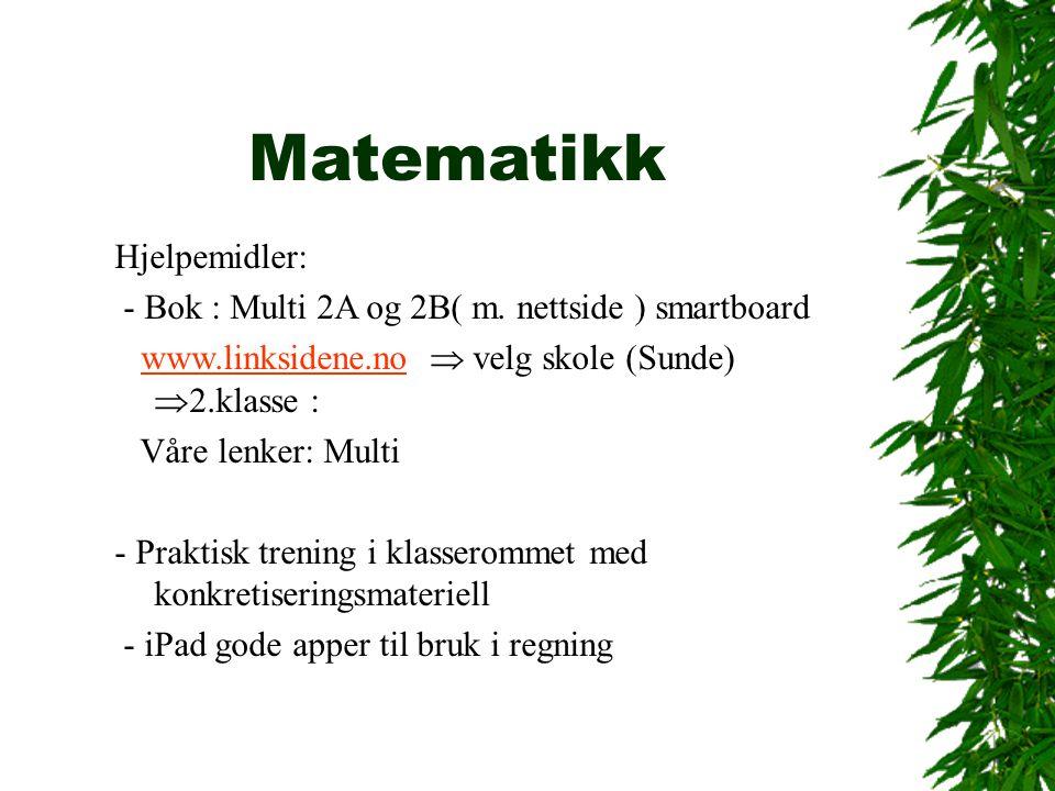 Matematikk Hjelpemidler: