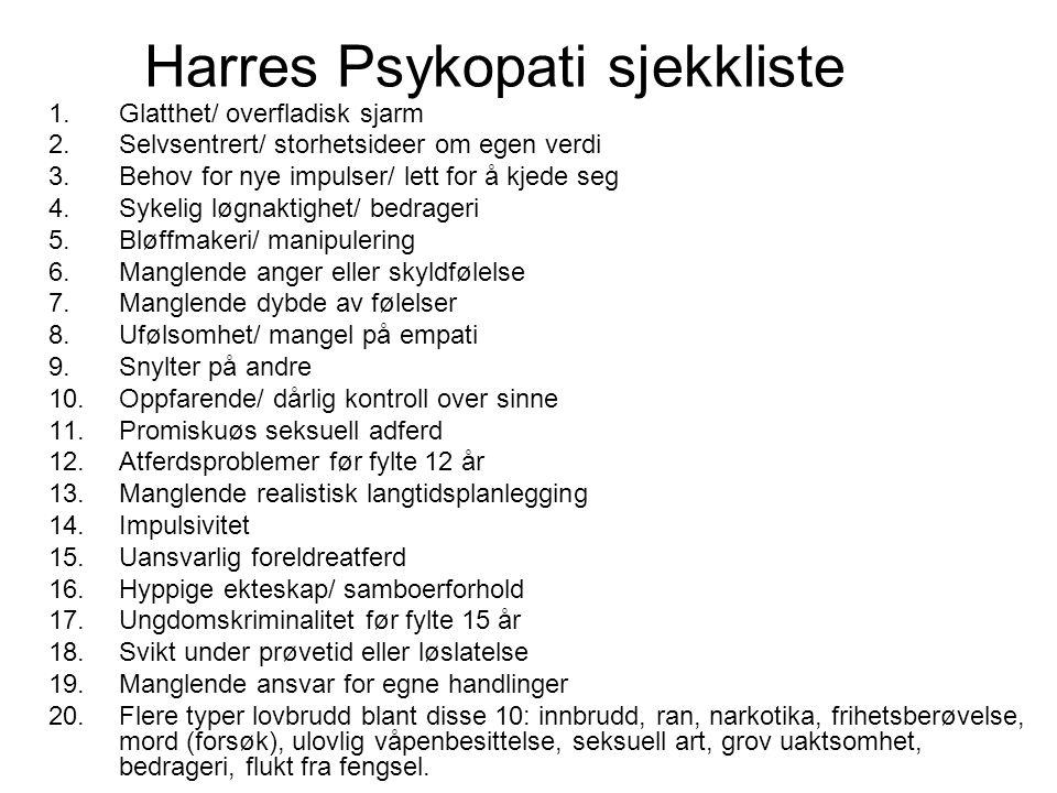 Harres Psykopati sjekkliste