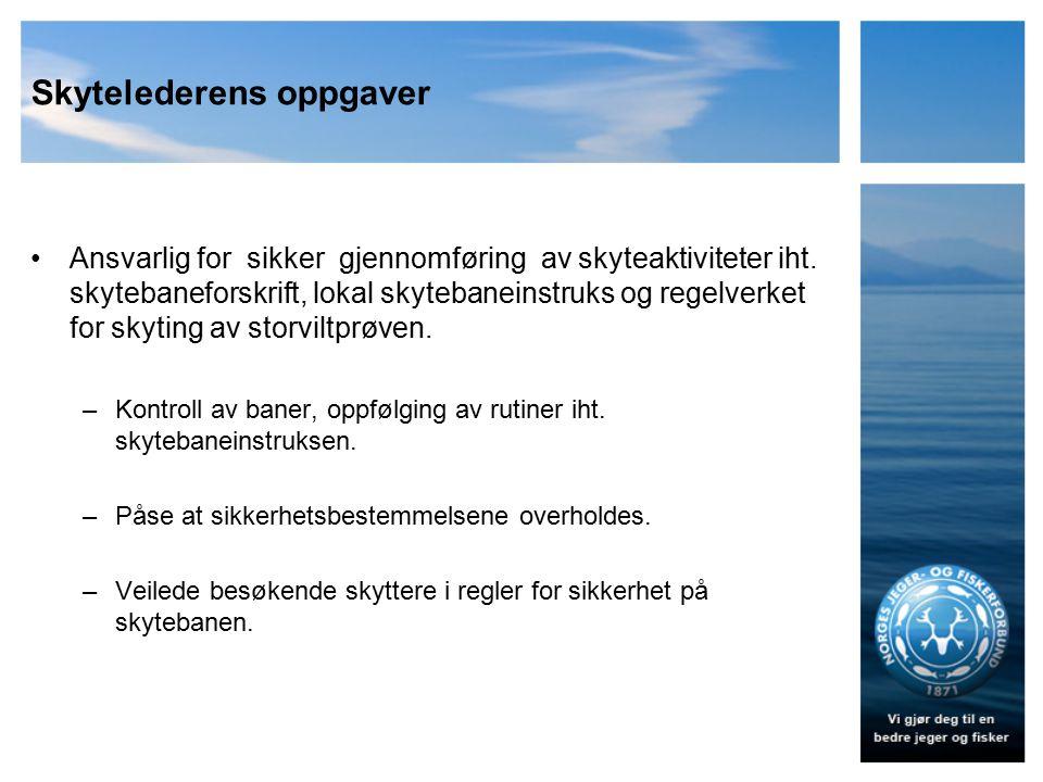Skytelederens oppgaver
