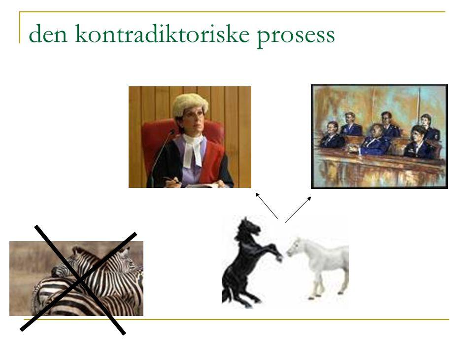 den kontradiktoriske prosess