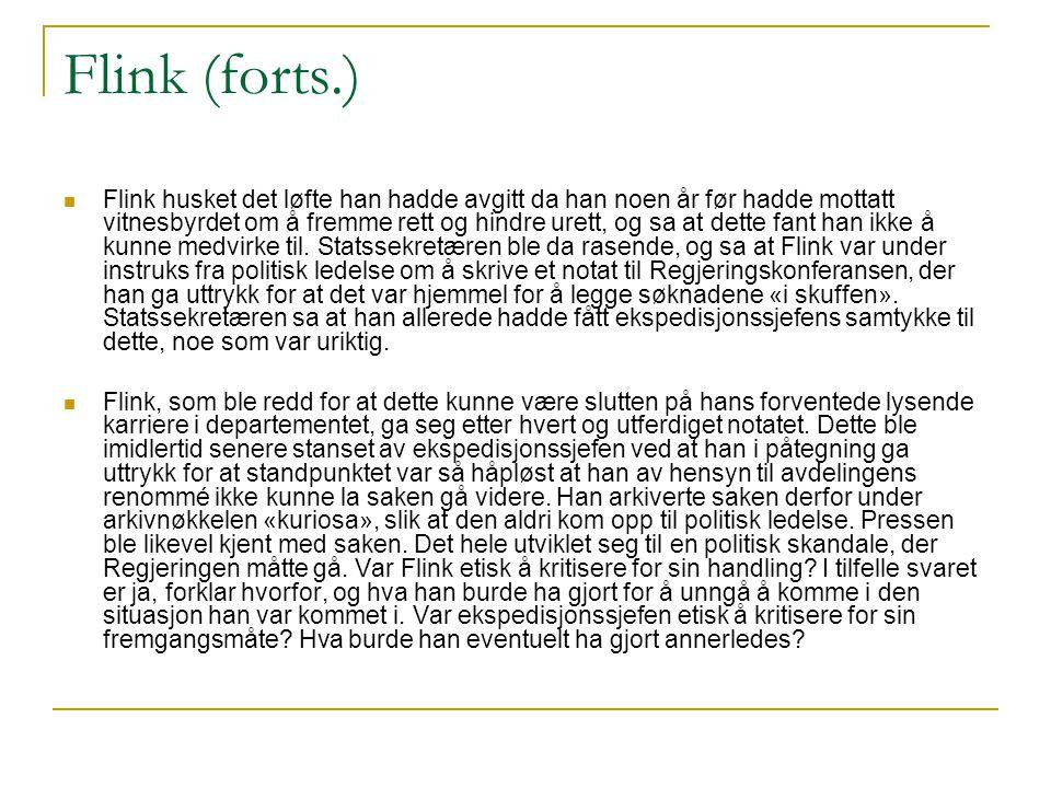 Flink (forts.)