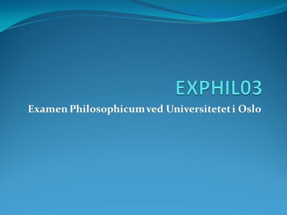 Examen Philosophicum ved Universitetet i Oslo