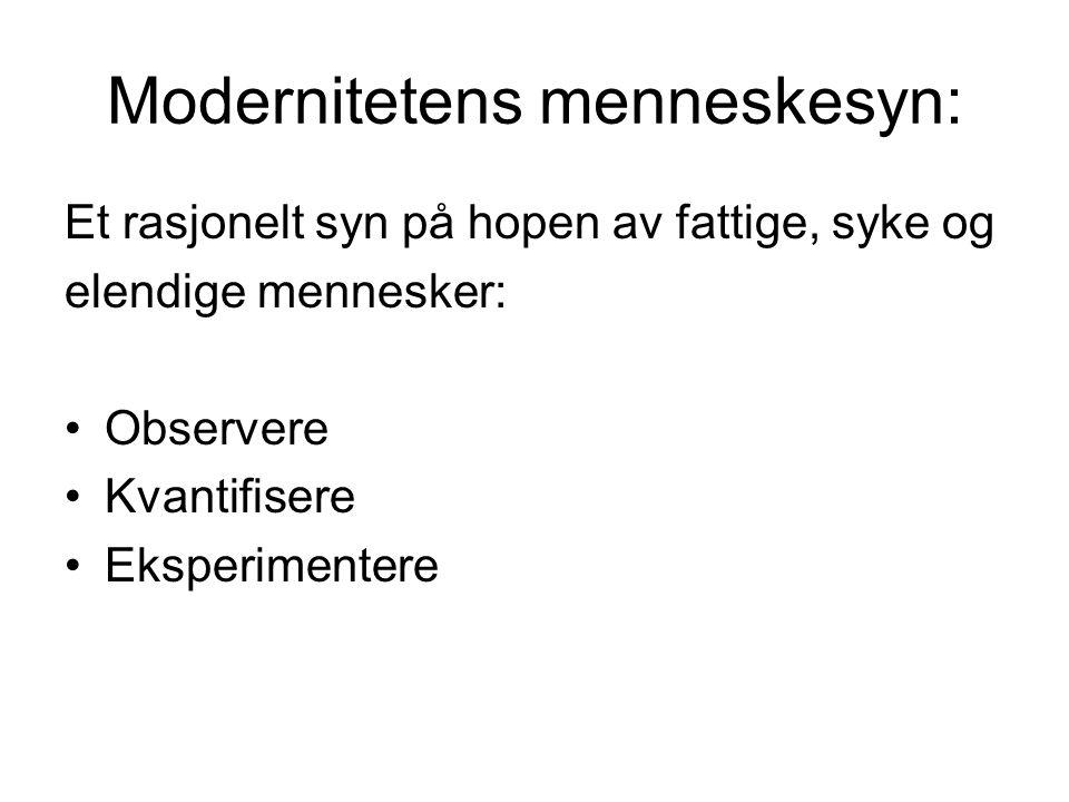 Modernitetens menneskesyn: