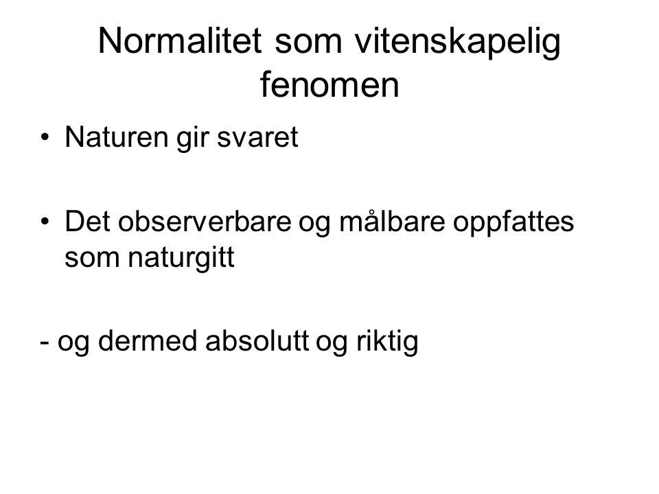 Normalitet som vitenskapelig fenomen