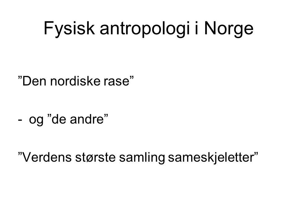 Fysisk antropologi i Norge