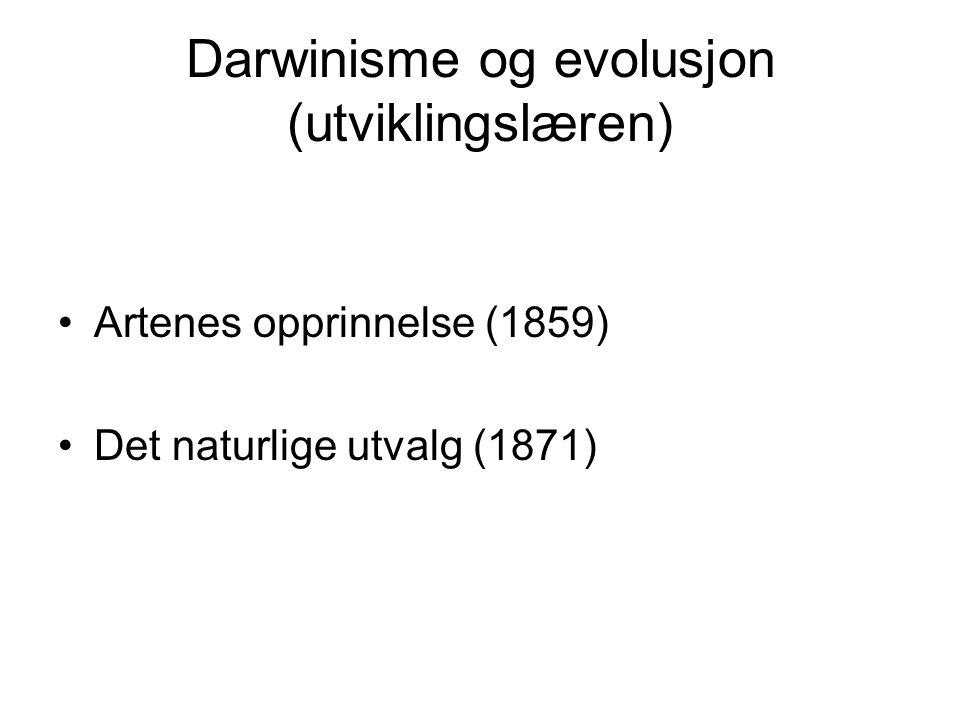 Darwinisme og evolusjon (utviklingslæren)