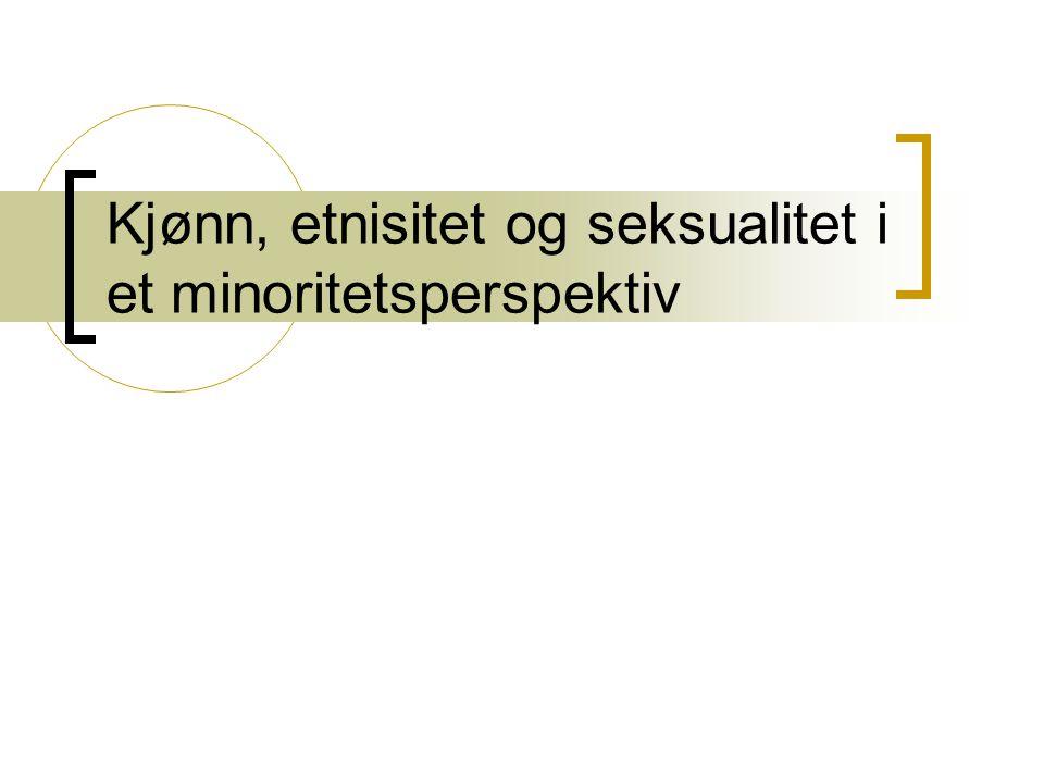 Kjønn, etnisitet og seksualitet i et minoritetsperspektiv