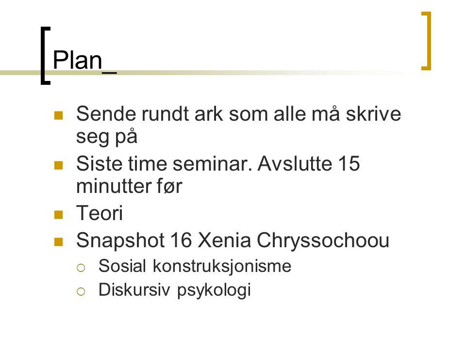 Plan_ Sende rundt ark som alle må skrive seg på