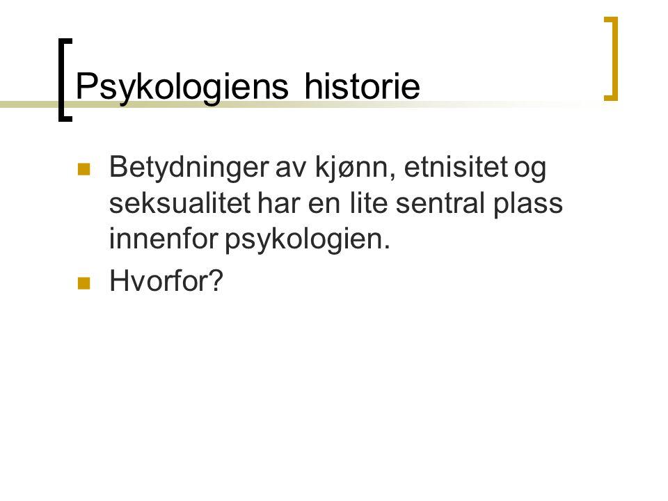 Psykologiens historie