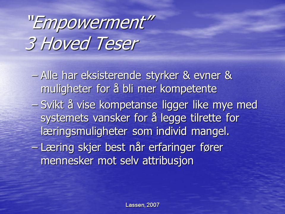 Empowerment 3 Hoved Teser
