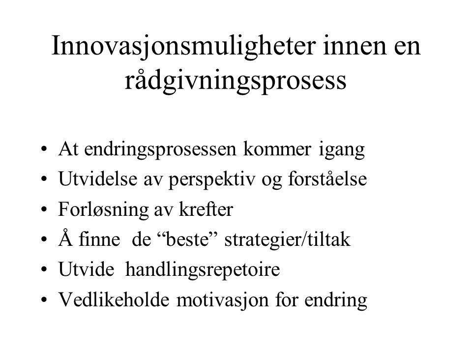 Innovasjonsmuligheter innen en rådgivningsprosess