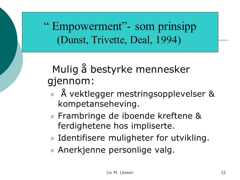 Empowerment - som prinsipp