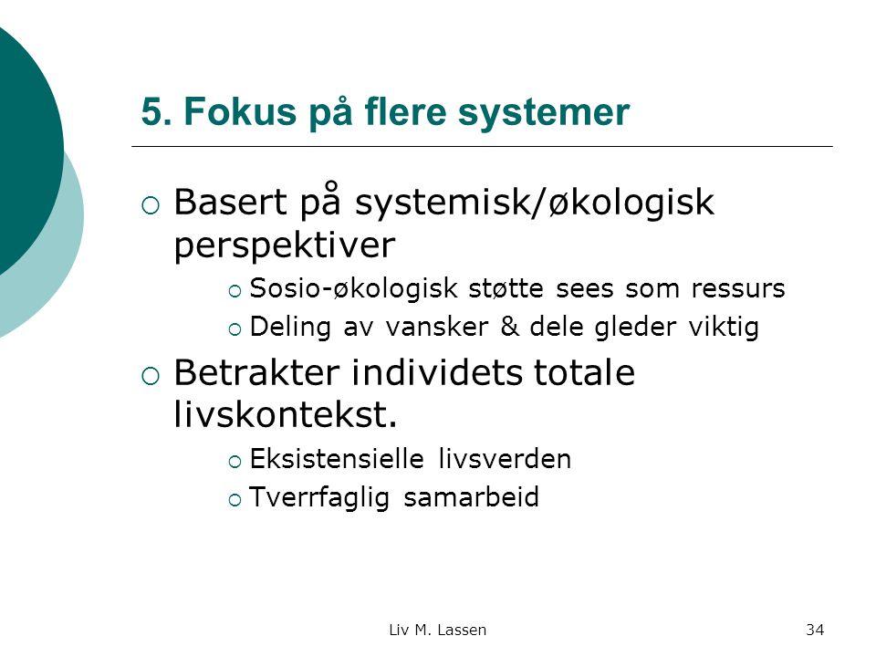 5. Fokus på flere systemer