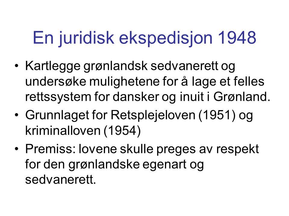 En juridisk ekspedisjon 1948