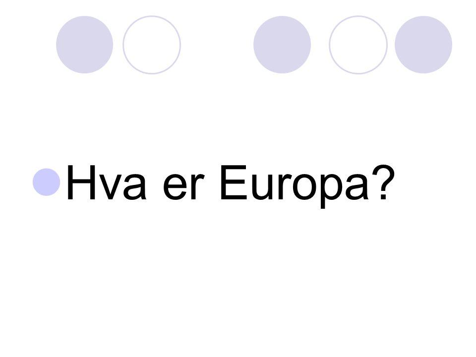 Hva er Europa