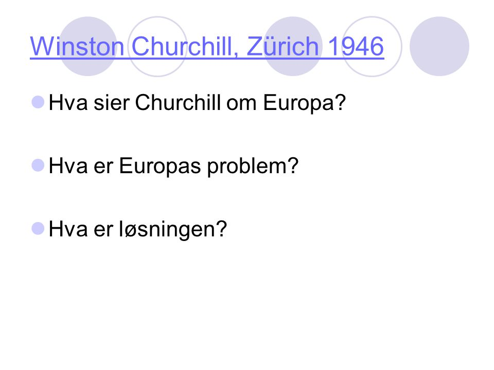 Winston Churchill, Zürich 1946