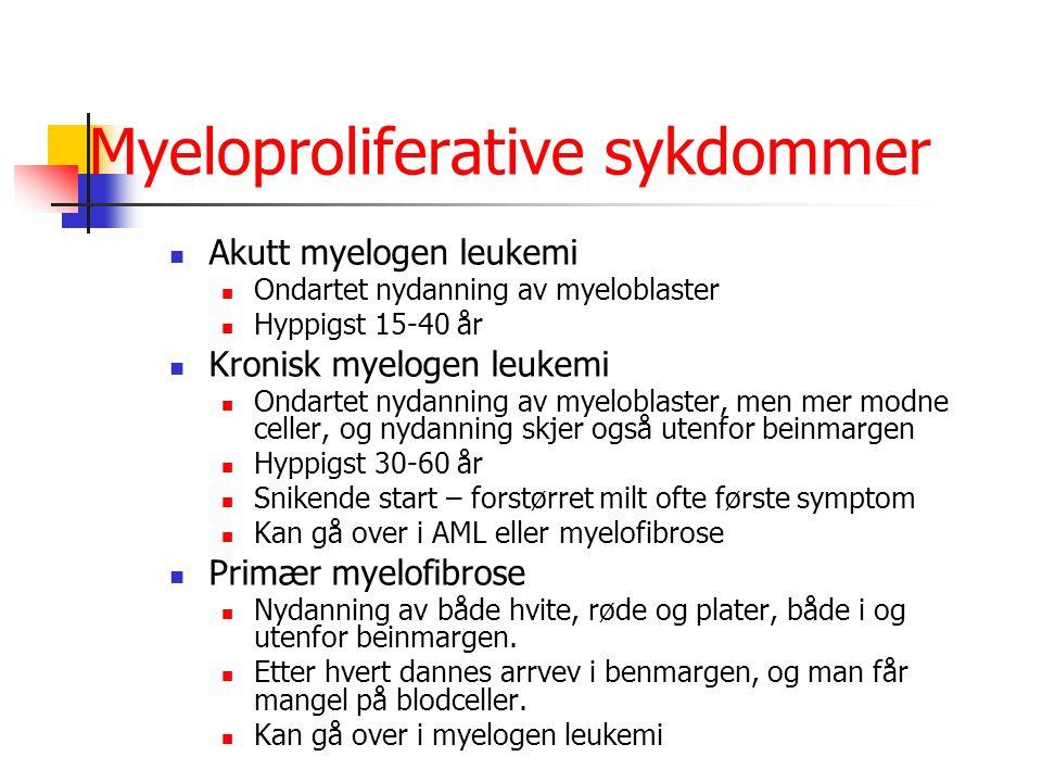 Myeloproliferative sykdommer