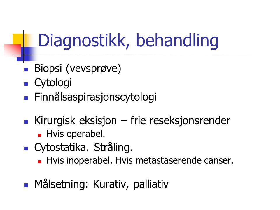 Diagnostikk, behandling