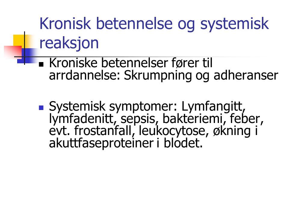 Kronisk betennelse og systemisk reaksjon
