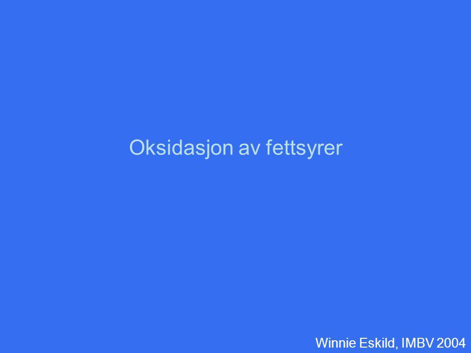 Oksidasjon av fettsyrer